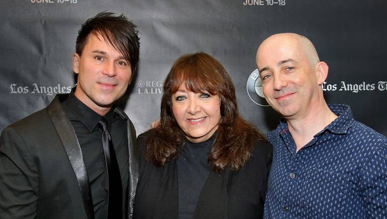Pictured (L-R): BMI composer BT, BMI's Doreen Ringer-Ross and Film Independent's Paul Cowling pose before the electronica in film event.
