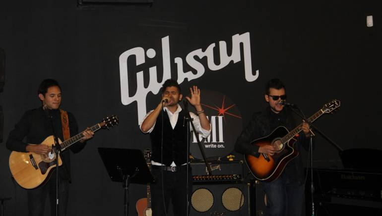 BMI's Latin and Film/TV departments recently joined forces withLatin Music Specialiststo host a showcase with an acoustic performance by Chicano rock band Santa Muerte at the Gibson Showroom in Beverly Hills, CA. Latin Music Specialists, whose mission is to continually discover, develop, produce, distribute, and promote new and exciting Latin artists, provides Film, TV, and advertising producers with high quality Latin music.