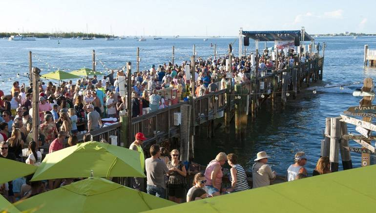 The Ocean Key Sunset Pier Kick Off Party presented by SunTrust Bank takes place during the Key West Songwriter's Festival on May 6, 2015, in Key West, FL.