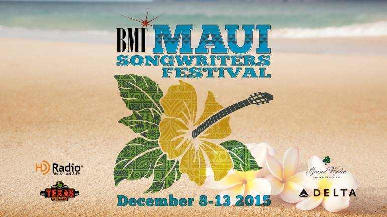 """The first-ever BMI Maui Songwriters Festival, set for December 8-13, 2015, on the spectacular Hawaiian island, will combine local vibes with international acclaim in a one-of-a-kind celebration of sand, surf and music. The all-star lineup includes GRAMMY-winning songwriter and artistKacey Musgraves; Nashville Songwriters Hall of Fame giantsBob DiPiero(Reba McEntire's """"Little Rock,"""" George Strait's """"Blue Clear Sky"""") andJeffrey Steele(Rascal Flatts' """"What Hurts the Most,"""" Tim McGraw's """"The Cowboy in Me""""); BMI Country Songwriters of the YearRhett Akins(Blake Shelton's """"Honey Bee,"""" Jason Aldean's """"When She Says Baby"""") andRodney Clawson(Kenny Chesney's """"American Kids,"""" George Strait's """"I Saw God Today""""); chart-topping writersNicolle Galyon(Miranda Lambert's """"Automatic,"""" Keith Urban's """"We Were Us"""") andBrandon Kinney(Randy Houser's """"Boots On,"""" Lonestar's """"You're Like Coming Home""""); revered ukulele playerJake Shimabukuro; Emmy-winning singer, songwriter, and producerMaggie Rose; songwriting supergroupLoving Mary; acclaimed multi-instrumentalist Mark Johnstone; buzz-worthy newcomersKimberly JuneandGreylan James; and Maui-based favoriteLily Meola. Don't miss it!"""