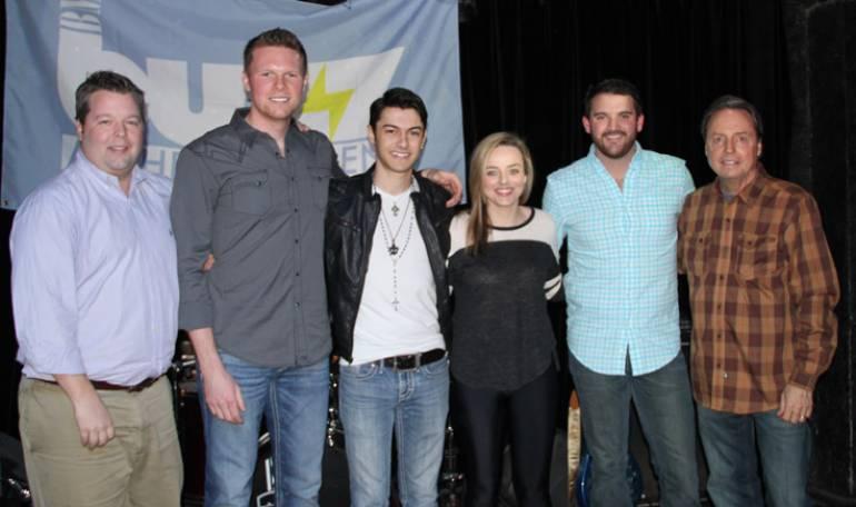Pictured: BMI's Bradley Collins, BMI songwriters Josh Martin, Tristen Smith, Emma White and Matt Chase with BMI's Jody Williams.