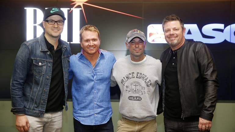 Pictured (L-R): BMI songwriter Luke Laird, Shane McAnally, BMI singer/songwriter Kenny Chesney and BMI songwriter Rodney Clawson.