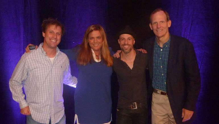 Pictured (L-R) before the session are: Rock DJ Adam Bomb, Conclave Board Chair and Cumulus Media Vice President of Social Media Lori Lewis, BMI songwriter Chris Daughtry and BMI's Dan Spears.