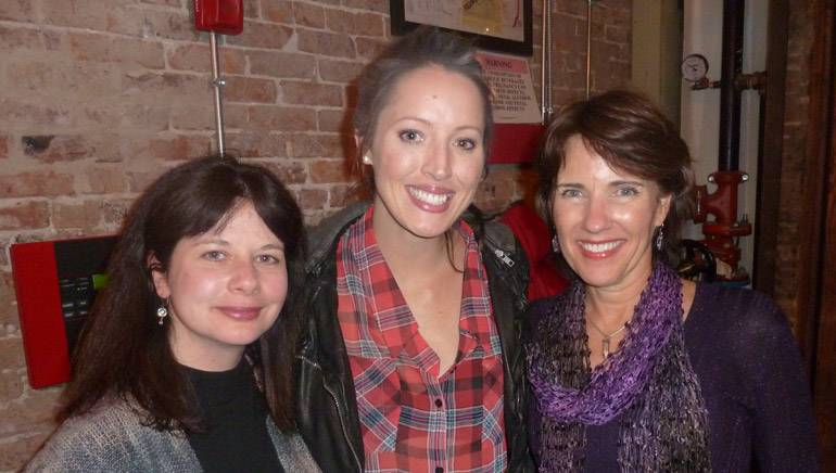 Pictured (L-R) after Karla's performance are: BMI's Jessica Frost, BMI singer-songwriter Karla Davis and Beasley Broadcast Group's Vice President of Corporate Communications Denyse Mesnik.