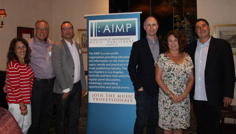 "Pictured (L-R) at the AIMP's ""Disney: The Story of a Soundtrack"" event are: BMI and AIMP's Barbie Quinn, Disney's Chris Montan, composer Henry Jackman, Disney and Pixar Animation Studios' Tom MacDougall and Disney's Kaylin Frank and Mitchell Leib."