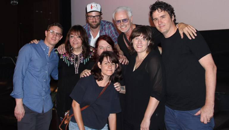 Pictured (L-R) at BMI's 'Don't Knock the Rock' roundtable are: BMI's Doreen-Ringer Ross; actor, writer, producer and director Joshua Leonard; director Allison Anders; moderator Michael Des Barres; BMI composer Heather McIntosh; director J. Davis; and music supervisor Tiffany Anders (pictured front center)