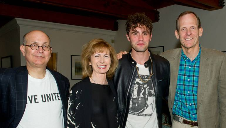 Pictured (L-R) before the performance are: Manship Media CFO and Conference Chair Ralph Bender,MFM President and CEO Mary Collins, BMI songwriter Mikky Ekko and BMI's Dan Spears.