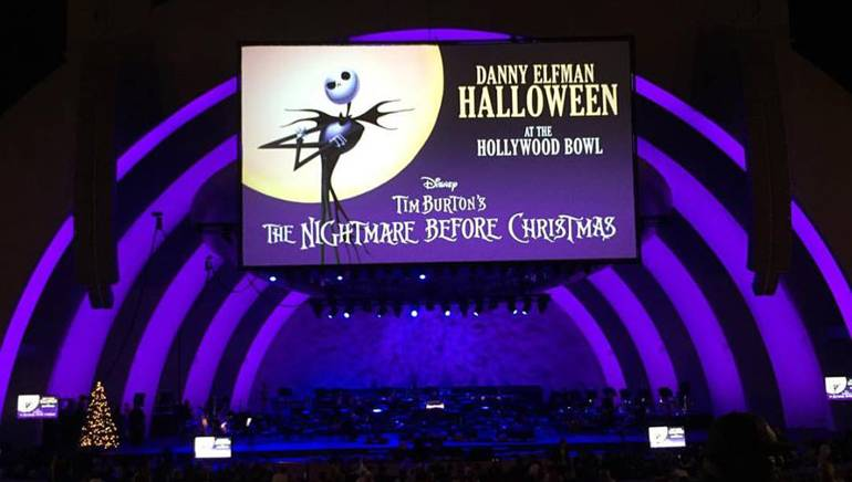 The audience is ready for the The Nightmare Before Christmas to begin.
