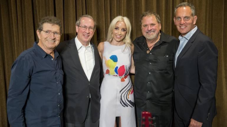 Pictured (L-R) BMI songwriter Mac Davis, Congressman Bob Goodlatte (R-VA) and BMI songwriters Ashley Monroe and Bob DiPiero with BMI President and CEO Mike O'Neill.