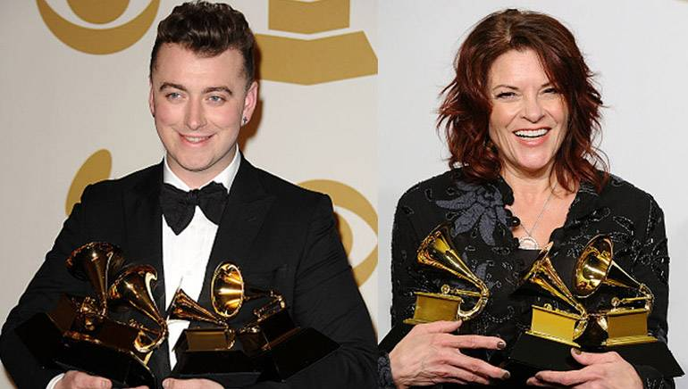 Pictured: Sam Smith and Rosanne Cash