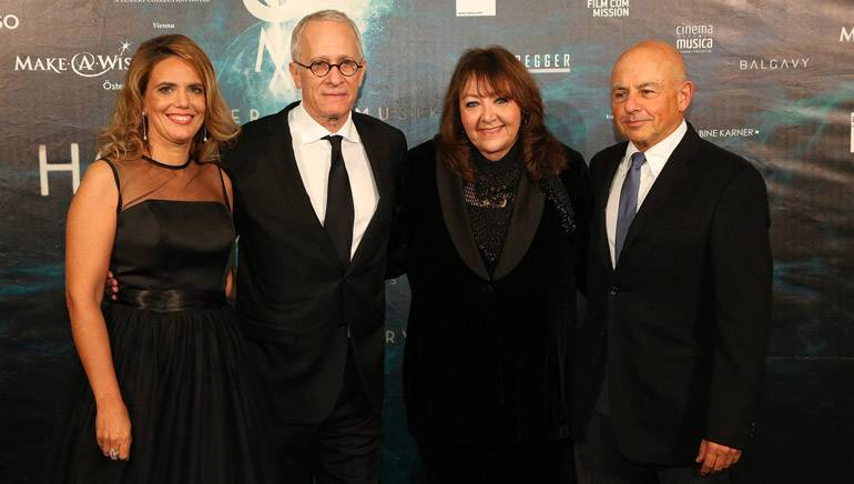 Pictured (L-R): Hollywood in Vienna founder, Sandra Tomek, BMI Composer James Newton Howard, BMI Vice President, Writer/Publisher Relations Doreen Ringer-Ross and agent Sam Schwartz.