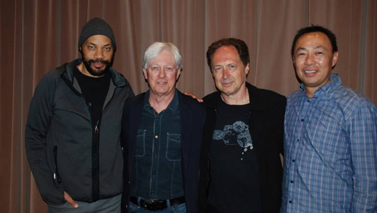 Pictured (L-R): Writer/director John Ridley, BMI composer and SCL Board member Chris Farrell, BMI composer Mark Isham and BMI's Ray Yee.