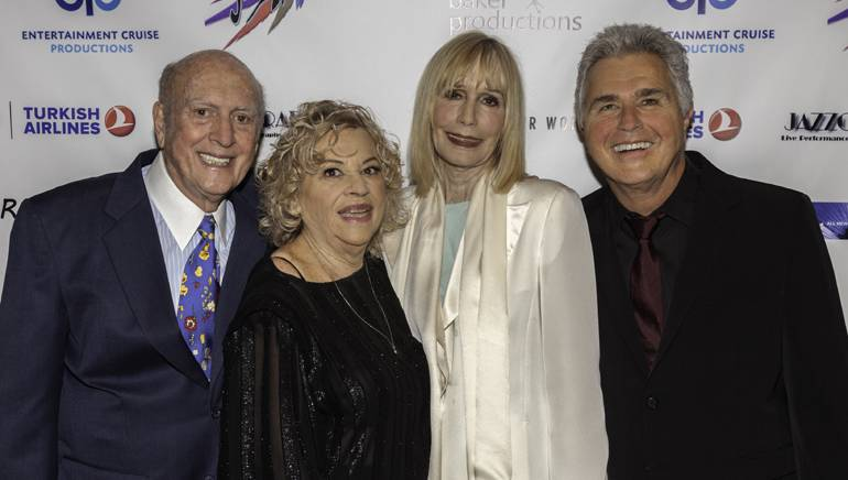 Pictured (L-R): Mike Stoller, Corky Hale, Sally Kellerman and Steve Tyrell.