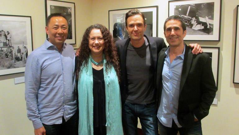 Pictured (L-R): BMI's Ray Yee, SCL Board Member and moderator Lynn F. Kowal and BMI composers Fil Eisler and Mac Quayle.