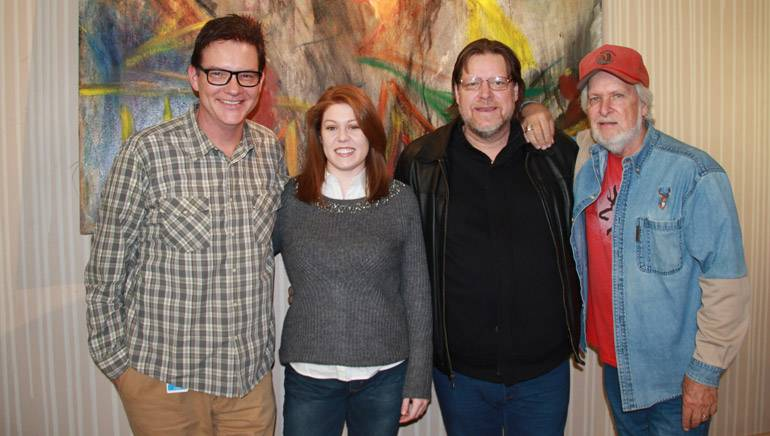 Stampley Family.jpg: Pictured (L-R): BMI's Perry Howard, BMI songwriters Tara, Tony and Joe Stampley.