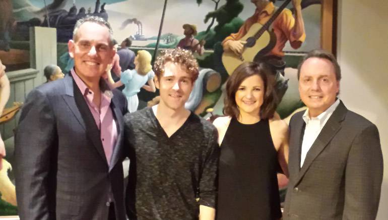 Pictured: BMI President and CEO Mike O'Neill, Striking Matches' Justin Davis and Sarah Zimmerman and BMI's Jody Williams.