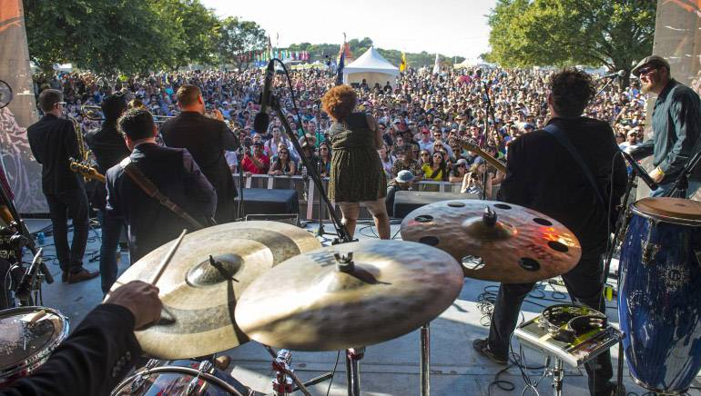 BMI band the Suffers perform at Austin City Limits Festival on October 4, 2015, in Austin, TX. The Gulf Coast soul group performed for a huge crowd, proving why they were one of the can't-miss acts of the weekend.