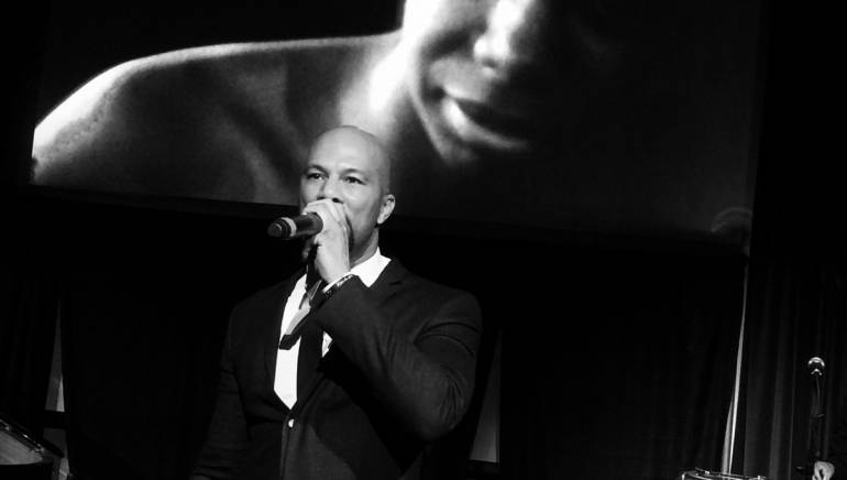 "Pictured: Common performs his tribute to Nina Simone at the 2015 Sundance Film Festival's ""A Celebration of Music in Film"" concert on Sunday, January 25, 2015, in Park City, Utah."