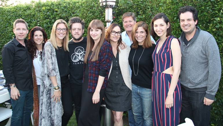 Pictured (L-R) at the Sync THIS! event in Los Angeles are: Jeremy Ash of Capitol CMG, Michelle Wernick of Secret Road, BMI's Penny Gattis, Jacob Summers of Avid Dancer, BMI's Jessa Gelt and Lisa Feldman, Wayne Davis of Secret Road, BMI's Tracie Verlinde, singer-songwriter Lucy Schwartz and Daniel Higbee of Secret Road.