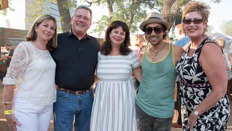 Pictured (L-R) after Javier's performance are: Cheryl Jackson, TRA President and CEO Richie Jackson, BMI's Jessica Frost, BMI Songwriter Javier Mendoza and BMI's Paula Cullar.