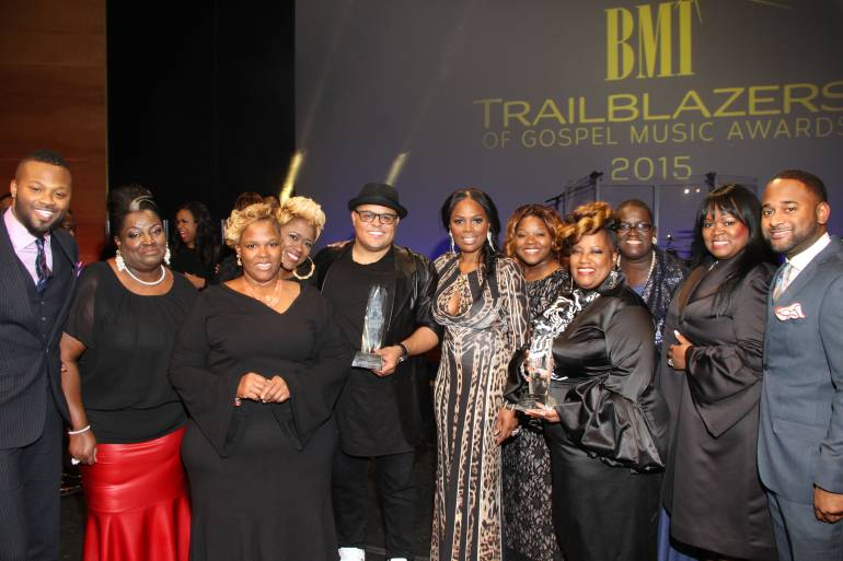 Pictured: The Anointed Pace Sisters and Israel Houghton (center) with BMI Executive Director, Writer-Publisher Relations Wardell Malloy (far left), BMI Vice President, Writer-Publisher Relations Catherine Brewton (center), and  BMI Director, Writer-Publisher Relations Byron Wright (far right).