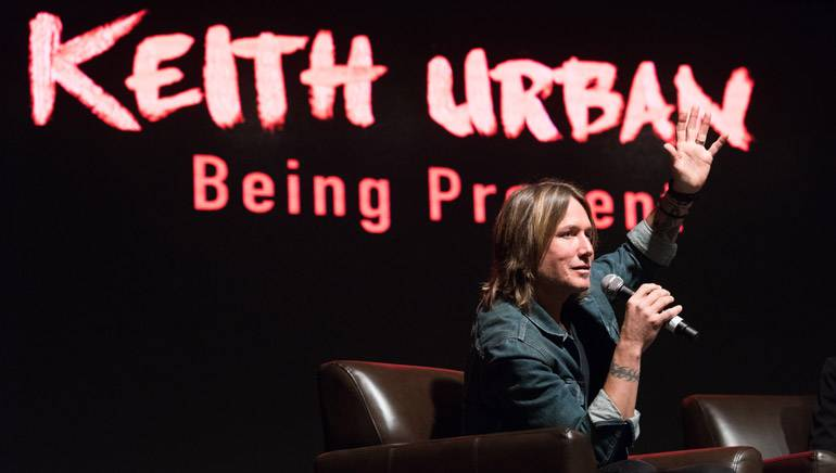 "Country superstar Keith Urban talks about ""Being Present"" at 2015 Country Radio Seminar."