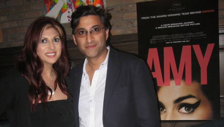 """Pictured at a private industry screening of the film """"AMY"""" are BMI Director of Film/TV Relations Anne Cecere and director Asif Kapadia."""