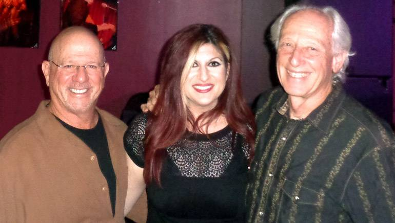 Pictured: BMI composer Mike Post; BMI's Anne Cecere; and BMI composer Don Peake pause for a photo during the ASMAC luncheon.