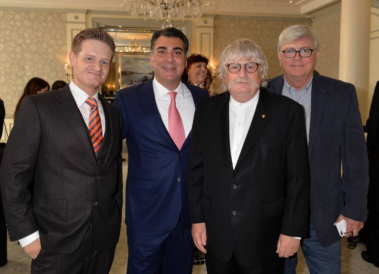 Pictured (L-R) at the awards ceremony are: Jody Jenkins, BMI's Brandon Bakshi, Sir Karl Jenkins and BMI's Phil Graham.