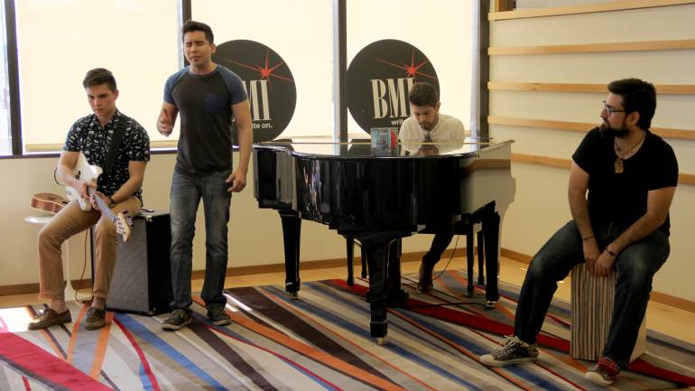 Borchardt performs at the BMI Los Angeles office