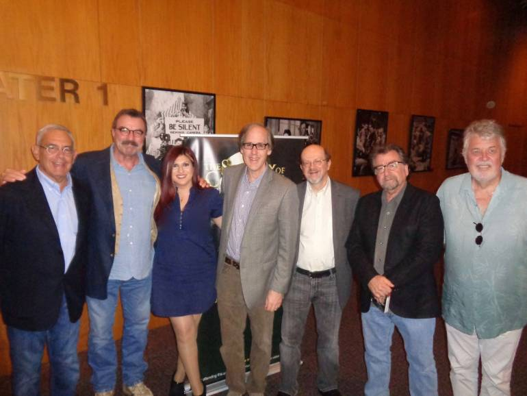 Pictured (L-R) are: executive producer and co-screenwriter Michael Brandman, executive producer, co-screenwriter and star Tom Selleck, BMI's Anne Cecere, EMMY-winning BMI composer Jeff Beal, film & TV music journalist and moderator Jon Burlingame, director Robert Harmon and Society of Composers and Lyricists President, Ashley Irwin.