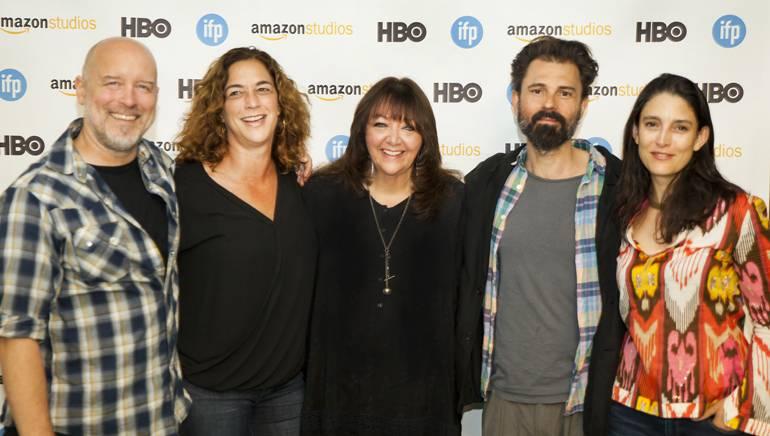 BMI composer T. Griffin, director Kristi Jacobson, BMI's Doreen Ringer-Ross, BMI composer Nathan Larson and director Rachel Boynton.