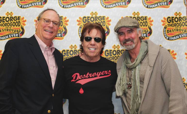 Pictured: BMI's Charlie Feldman, BMI songwriter George Thorogood and actor Jeff Fahey.