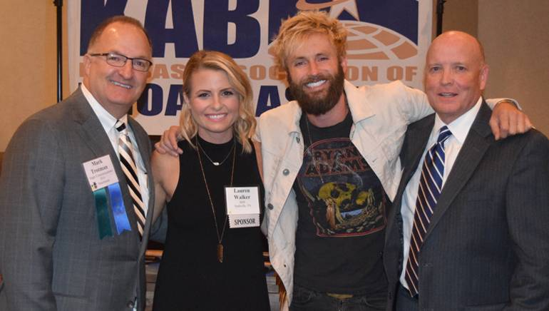 Pictured (L-R) before McDonald's performance are: KAB Board Chairman Mark Trotman, BMI's Lauren Butler, BMI Songwriter Paul McDonald, and KAB President and Executive Director, Kent Cornish.