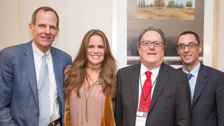 Pictured (L-R) after Bishop's performance are: BMI's Dan Spears, BMI singer-songwriter Bonnie Bishop,  Port Broadcasting owner and MBA incoming Board Chair Carl Strube and MBA Executive Director Jordan Walton.