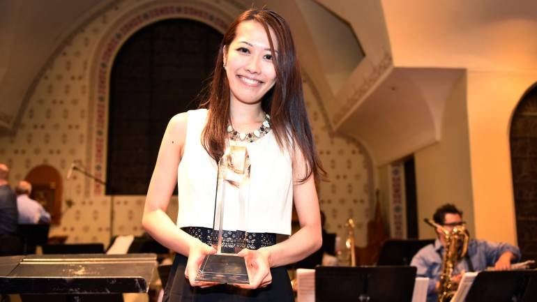 """Pictured: Composer Miho Hazama, winner of the 16th Annual Charlie Parker Jazz Composition Prize, will have her composition, """"Somnambulant,"""" performed at this year's Summer Showcase Concert on June 22, in NYC."""
