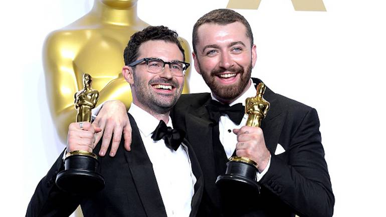 Pictured: Jimmy Napes and Sam Smith