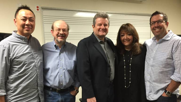 Pictured (L-R) are: BMI's Ray Yee, USC Adjunct Assistant Professor Jon Burlingame, USC's Scoring for Motion Picture and Television Program Chair Dan Carlin, BMI's Doreen Ringer-Ross and BMI composer Christopher Lennertz.