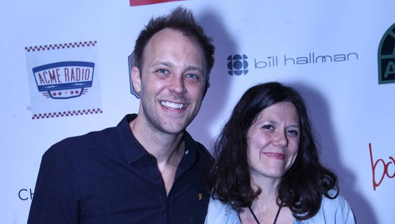 BMI's David Claassen and BMI songwriter Lilly Hiatt at Americana in the Park concert series.