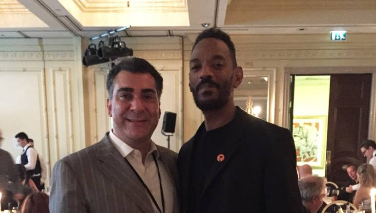 Pictured at the Millennium Hotel Ballroom in London's Grosvenor Sqaure during MuseExpo are BMI's Brandon Bakshi and Island Record's President Darcus Beese.