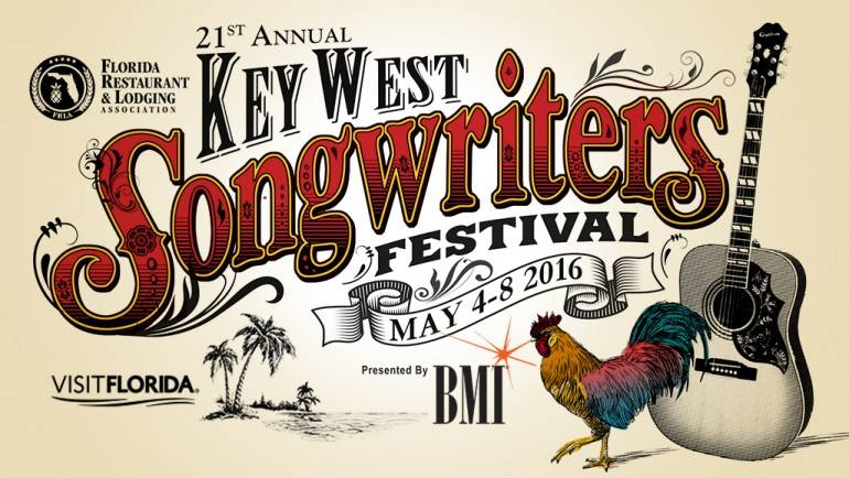 The 21st Annual Florida Restaurant and Lodging Association's Key West Songwriters Festival, presented by BMI, is set for May 4-8, 2016.The festival will feature top country hitmakers alongside up-and-coming talent in the most iconic venues of beautiful Key West. The impressive list of performers for this year includes headliners RCA Nashville recording artist Jake Owen, Robert Earl Keen, Rhett Akins Band, Bob DiPiero, Natalie Hemby, Al Anderson, Shawn Camp, Lori McKenna, Liz Rose, Wendell Mobley, Heather Morgan, James Slater, Even Stevens, Guthrie Trapp and the Mulekickers, Chuck Cannon, Bruce Wallace, Phil Barton, Randy Montana, Josh Dorr, Marti Fredriksen, Danny Myrick, Paul Jenkins, Jabe Beyer, Rick Farrell, Love & Theft and Maggie Rose, with many more to come. For more information, go to: keywestsongwritersfestival.com.