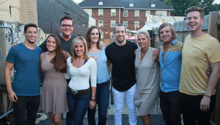 YEP's Andrew Cohen and Amelia Varni, BMI's Perry Howard, BMI songwriter Mary Sarah, BMI and YEP's MaryAnn Keen, BMI songwriter Chris Bandi, BMI's Leslie Roberts, BMI songwriter Joey Hyde and BMI's Josh Tomlinson.