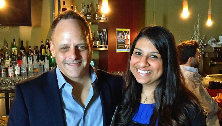 Pictured: BMI composer Scott Healy and BMI's Reema Iqbal.