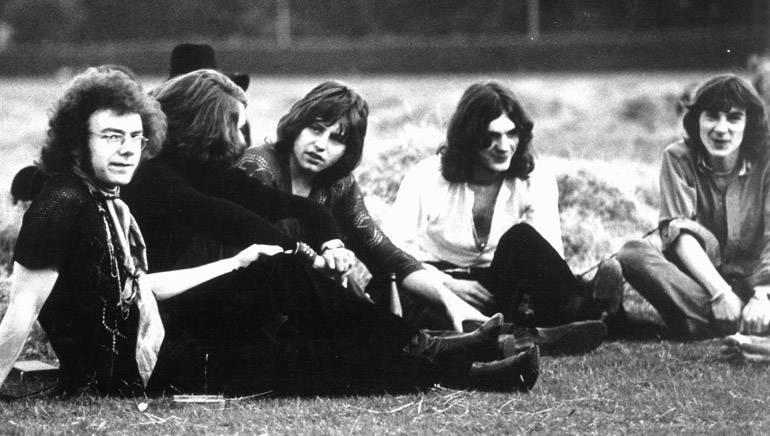 King Crimson in 1969: (L-R) Robert Fripp, Michael Giles, Greg Lake, Ian McDonald and Peter Sinfield.