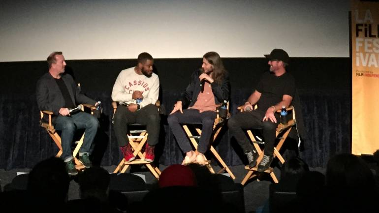 For the 'Ryan Coogler: Crafting the Soundtrack of Creed'panel, Dolby Institute Director Glenn Kiser, director Ryan Coogler, composer Ludwig Göransson and sound designer Steve Boeddeker discussed how all the elements came together in creating the soundtrack to the film 'Creed.'