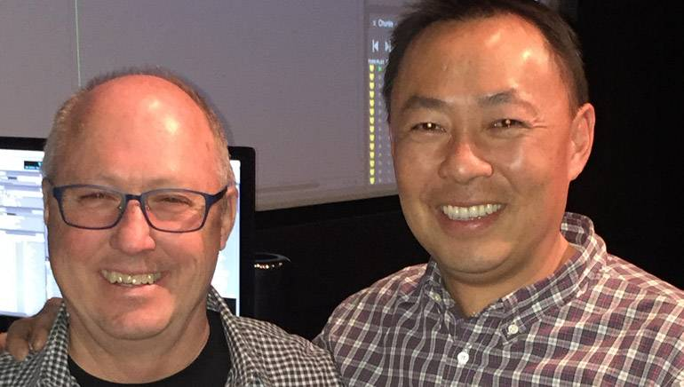 BMI composer Rick Marvin and BMI's Ray Yee pause for a photo during the SCL Seminar.