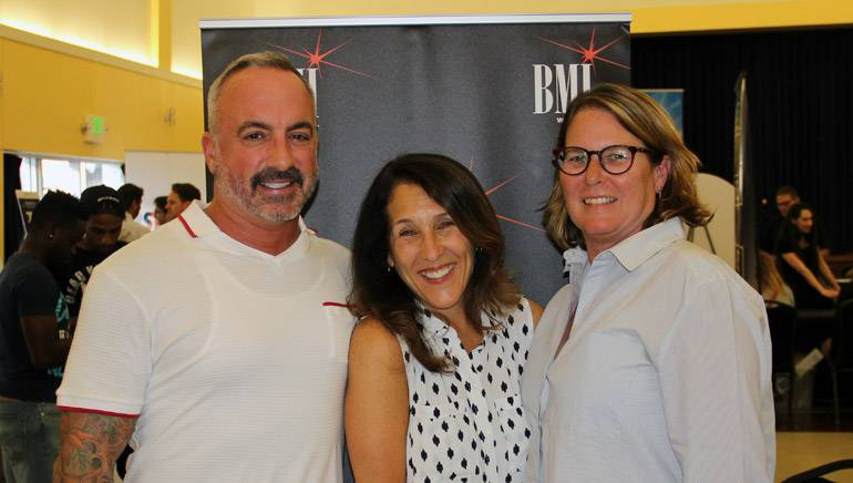 Pictured at the 4th Music Industry Toolbox are (L-R): BMI's Michael Crepezzi, Barbie Quinn, and Alison Smith.