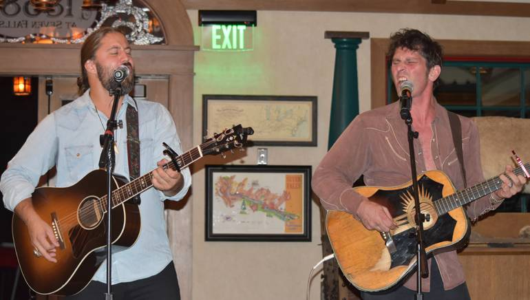 BMI songwriters Hugh Mitchell and Dave Pahanish perform their hits at the summer meeting of the Council of State Restaurant Associations.