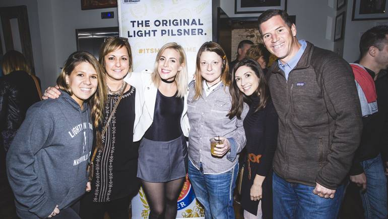 Pictured: (L-R): Lightning 100's Brittney Farrow, MillerCoors' Kim Juodaitis, songwriter Carla Cappa, Det Distributing Company's Elise McCracken, AC Entertainment's Neeley Rice and BMI's Mark Mason.