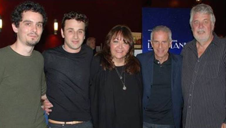 Pictured (L-R) are: director Damien Chazelle, BMI composer Justin Hurwitz, BMI's Doreen Ringer-Ross, producer Marc Platt and SCL president Ashley Irwin.